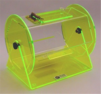 Mini Fluorescent Green Acrylic Raffle Drum